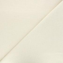 Tissu toile Aida à broder 5 pts - écru x10cm