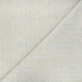 Lurex linen cotton fabric - natural Calvi x 10cm