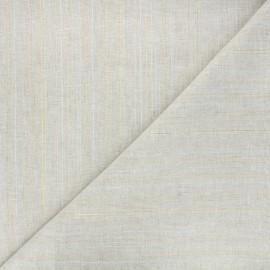 Tissu coton lin lurex Calvi - naturel x 10cm