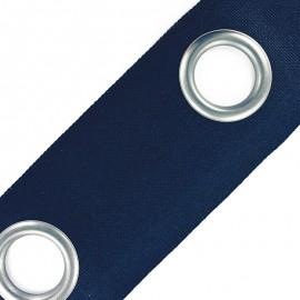 Bande à oeillets Color nickel mat - bleu marine x 18cm