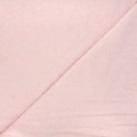 Tissu maille légère Loubna - rose clair chiné x 10cm