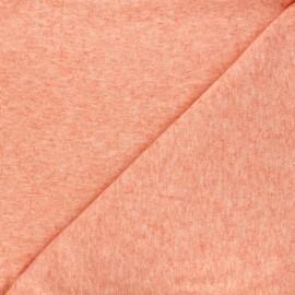 Light knitted fabric - mottled orange Loubna x 10cm