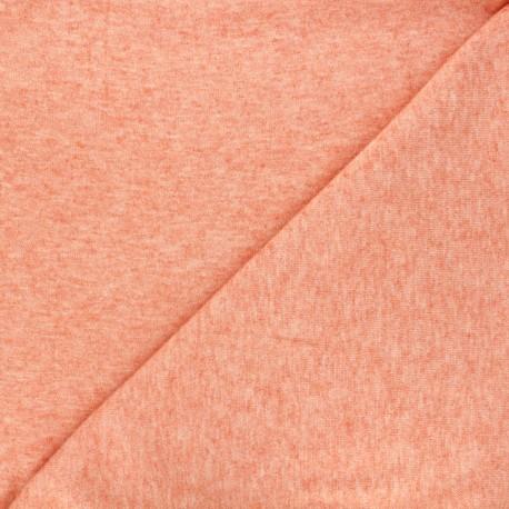 Tissu maille légère Loubna - orange chiné x 10cm