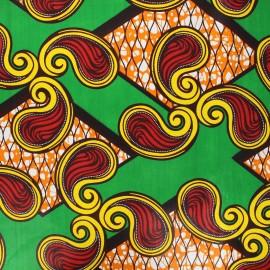 Wax print fabric - green Senyota x 10cm