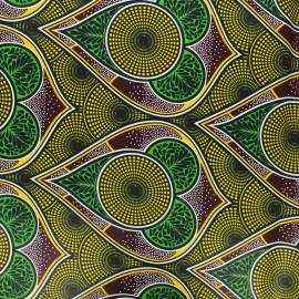 Wax print fabric - yellow Zekepa x 10cm