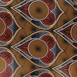 Wax print fabric - orange Zekepa x 10cm