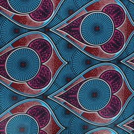 Tissu wax Zekepa - bleu x 10cm