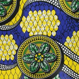 Tissu wax Guaya - jaune x 10cm