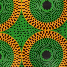 Tissu wax Jebia - vert x 10cm