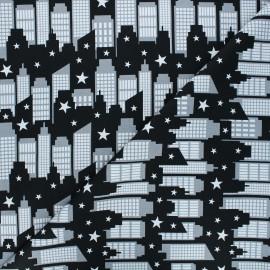 Tissu coton Heroes wear masks - City scene x 10 cm