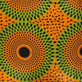 Wax print fabric - orange Jebia x 10cm