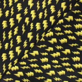 Cotton fabric - Lightning bolts Superheroes wear masks x 10 cm