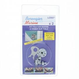 Kit fixation marine (Pack de 2) - argent