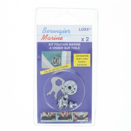 Marine mounting kit (Pack of 2) - silver
