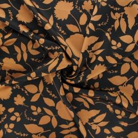 Print polyester satin fabric - camel Cormia x 10cm