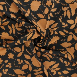 Tissu satin polyester Cormia - camel x 10cm