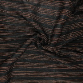 Tissu tulle plissé lurex Crazy for you - cuivre x 10cm