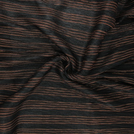 Lurex pleated tulle fabric - copper Crazy for you x 10cm