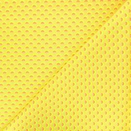 Tissu coton Petit Pan Wasabi - jaune fluo x 10cm