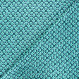Petit Pan cotton fabric - emerald Wasabi x 10cm