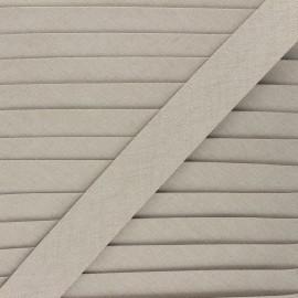 18 mm Linen bias binding roll - taupe grey