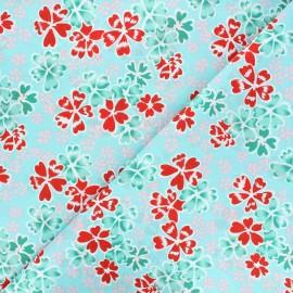 Tissu coton Petit Pan Junko - bleu ciel x 10cm