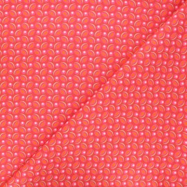 Petit Pan cotton fabric - tangerine Cereal x 10cm