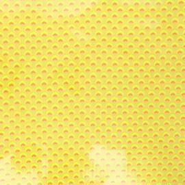 Tissu coton enduit Petit Pan Wasabi - jaune fluo x 10cm