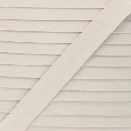 Linen bias binding roll - greige