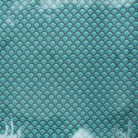 Petit Pan coated cotton fabric - emerald Wasabi x 10cm