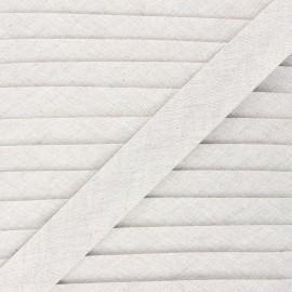 Linen bias binding roll - natural