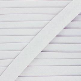 Linen bias binding roll - mouse grey