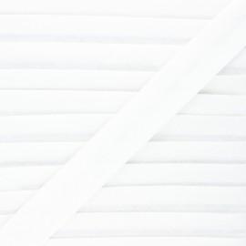 Biais lin - blanc - Bobine de 20 m