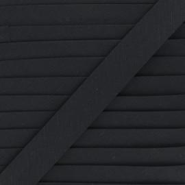 Biais lin - noir x 1m
