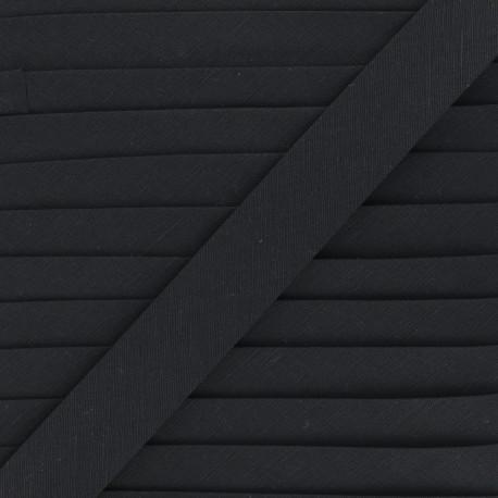 Biais lin - noir - Bobine de 20 m