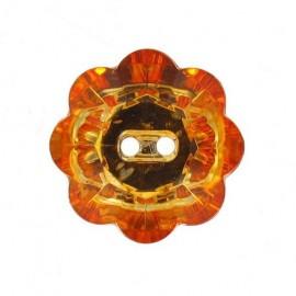 Bouton Fleur Crystal orange