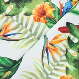 Coated cotton fabric - raw Aramanie x 10cm