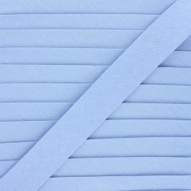Linen bias binding roll - bleuet