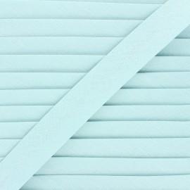 Linen bias binding roll - celadon blue