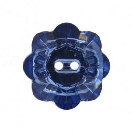 Bouton Fleur Crystal marine