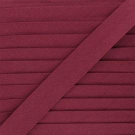 Linen bias binding roll - burgundy