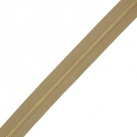 Fermeture Eclair® au mètre laiton - bronze