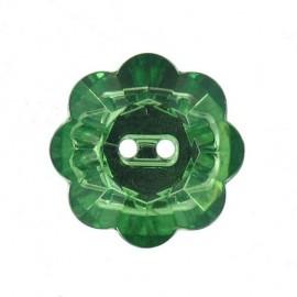 Bouton Fleur Crystal vert