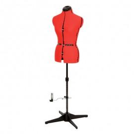 Mannequin de couture Vénus de luxe - taille 44-50 - Rouge - Prym