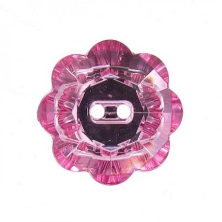 Bouton Fleur Crystal rose