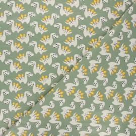 Printed jersey fabric - green Little dino x 10cm