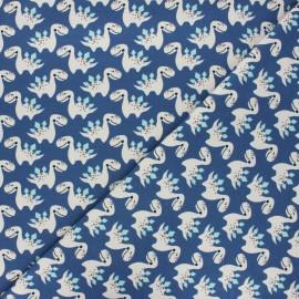 Tissu jersey Little dino - bleu marine x 10cm