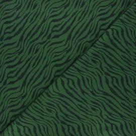 Printed jersey fabric - dark green Rokia x 10cm