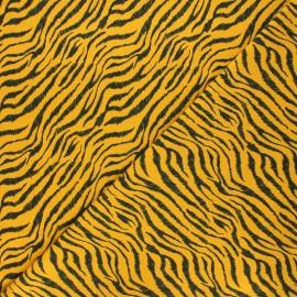 Tissu jersey Rokia - jaune moutarde x 10cm
