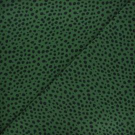 Printed jersey fabric - dark green Jilani x 10cm